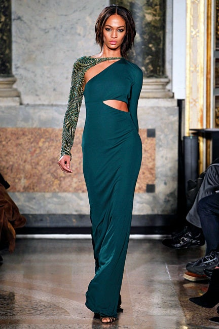 Emilio Pucci Dramatic Cut-Out Beaded Bias Cut Gown For Sale 5
