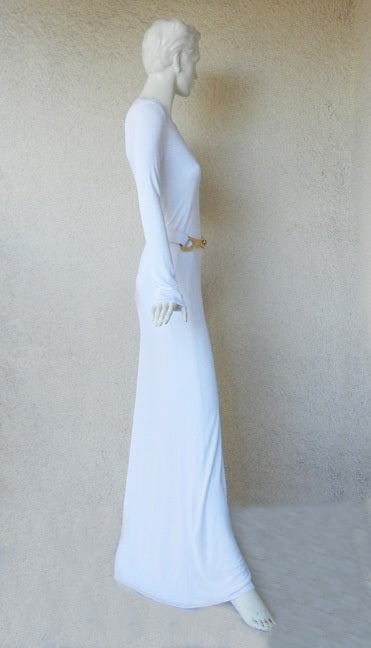 A Rare Iconic Gucci Tom Ford 1996 MInimalist White Jersey Gown 4