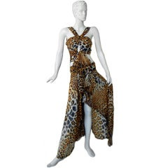 THE YSL/TOM FORD 2002 LEOPARD SILK CUT-OUT DRESS MOST WANTED!