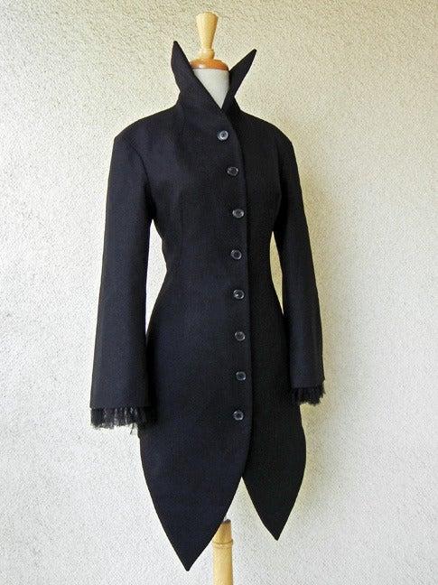 Alexander McQueen 2008 Deliciously Divine High Fashion Redingote Coat 3