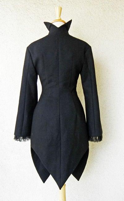 Alexander McQueen 2008 Deliciously Divine High Fashion Redingote Coat 5