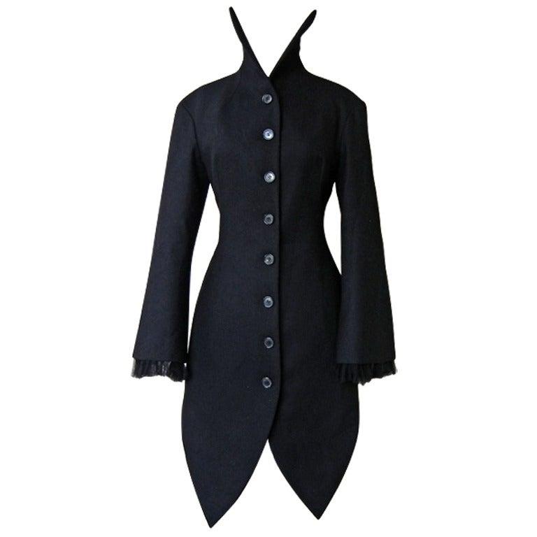 Alexander McQueen 2008 Deliciously Divine High Fashion Redingote Coat 1