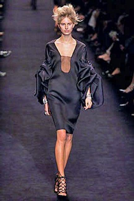 Black Giselle's 2002 YSL Tom Ford Elegantly Erotic Cocktail Dress For Sale