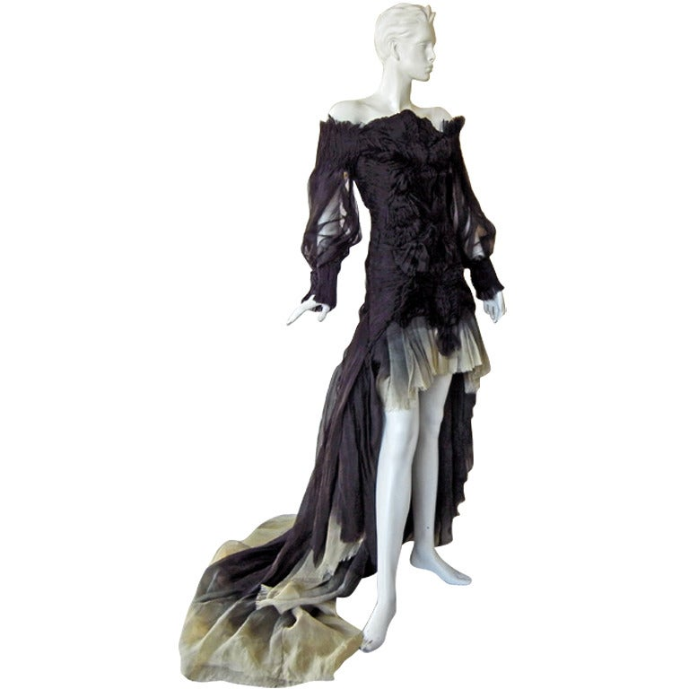 Alexander McQueen Magnificent Goth Gown by Sarah Burton (1st collection)