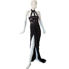 Alexander McQueen Wow Bondage Gown   New Condition!