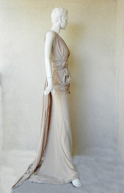 House of Vionnet Iconic Classic Grecian Wrap Runway Dress Gown In New Never_worn Condition For Sale In Los Angeles, CA