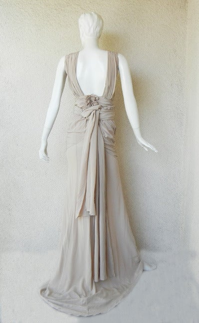 Women's House of Vionnet Iconic Classic Grecian Wrap Runway Dress Gown For Sale
