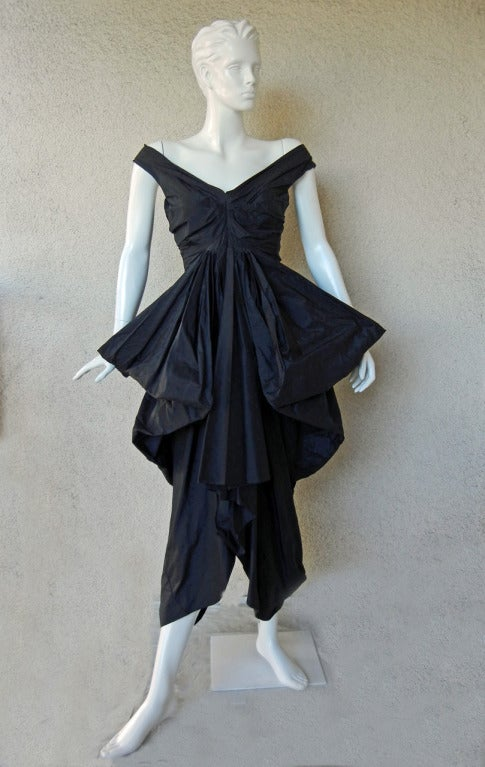 Rare John Galliano Hi Fashion Sculptural Evening Dress 2