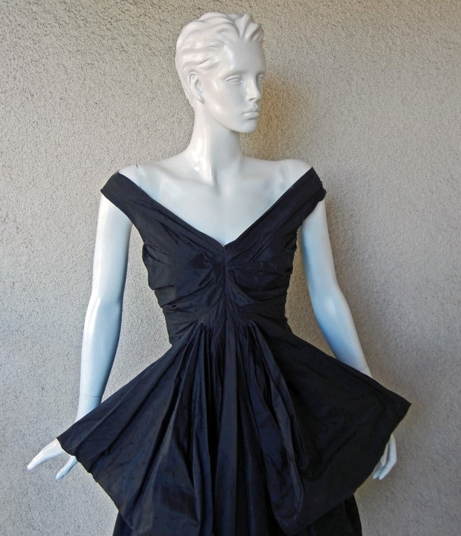 Rare John Galliano Hi Fashion Sculptural Evening Dress 3