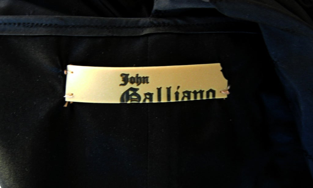 Rare John Galliano Hi Fashion Sculptural Evening Dress 6