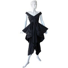 Rare John Galliano Hi Fashion Sculptural Evening Dress