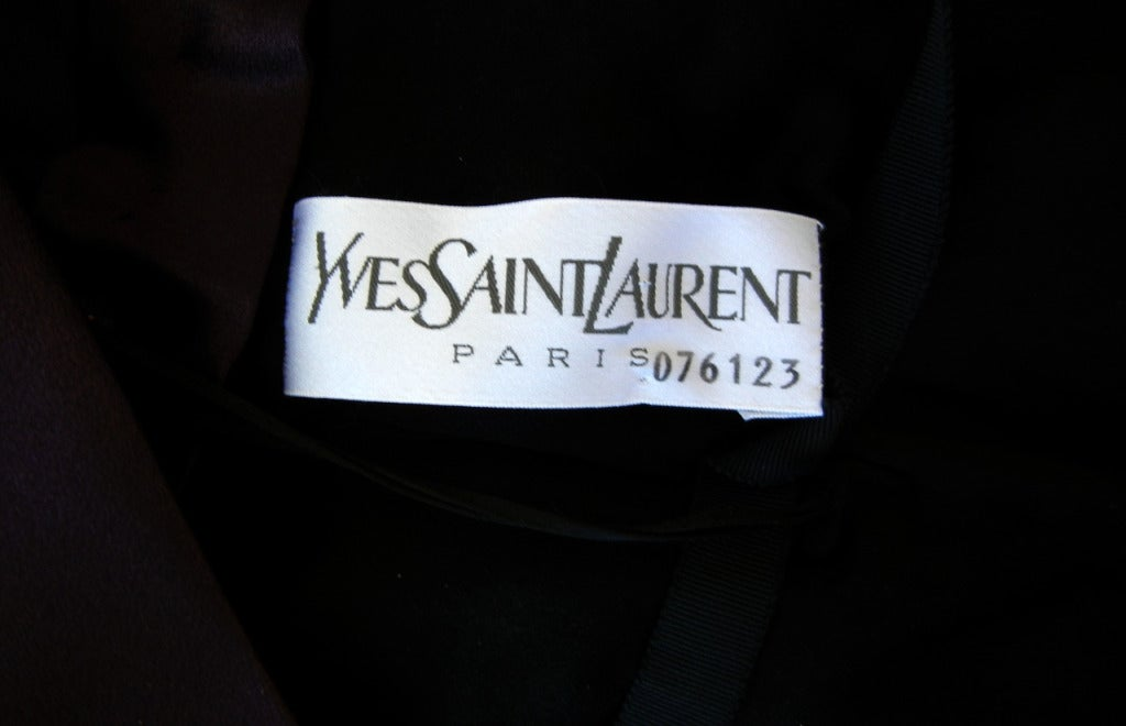 Yves Saint Laurent Haute Couture Fashion Runway Gown As Seen on Catwalk 5