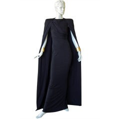 Tom Ford HIgh Style Black Gown w/Matching Long Cape