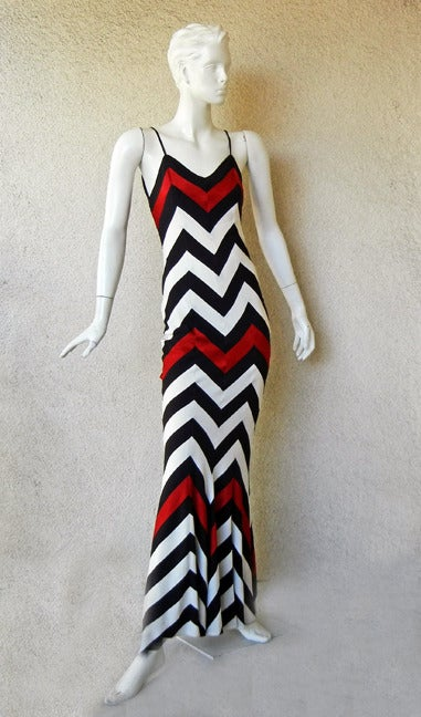 Black Christian Dior Chevron Pattern Evening Ensemble Inspired by 1950 Dior Collection For Sale