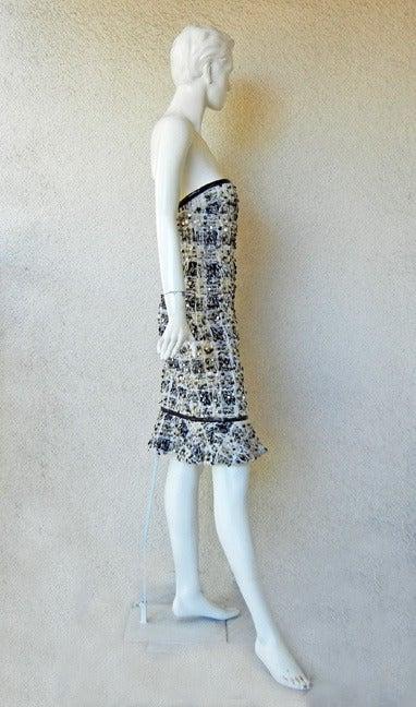 Rare Donna Karan Chanelesque Beaded Boucle Eyelash Dress 3