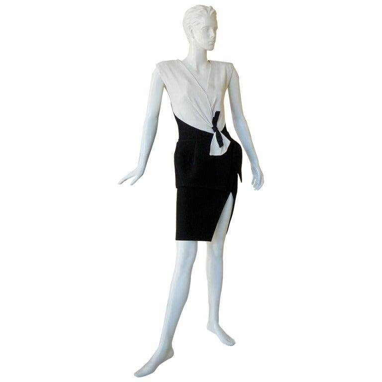 Balenciaga 'Lots of Leg' Evening Dress at 1stdibs