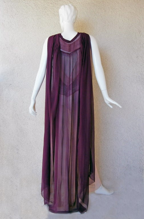 Maggy Rouff  1930's Diaphaneous Beaded Dress, Gown & Cape in Magazine For Sale 1