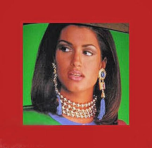 Escada Shldr Duster Earrings Worn by Supermodel Yasmeen Ghauri 5