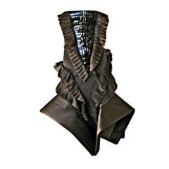 GIANFRANCO FERRE RARE ASYMMETRIC AVANT GARDE CROCO DRESS