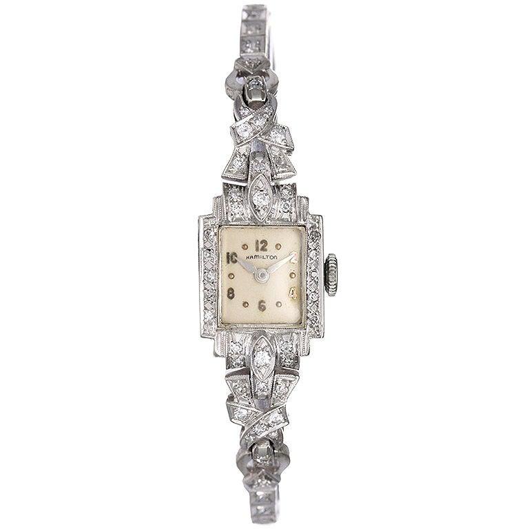 Lady hamilton diamond watch vintage