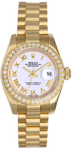 rolex president gold 179178 white