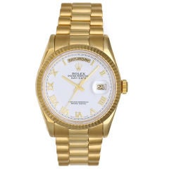 Rolex President Day-Date Men's Yellow Gold Watch 118238