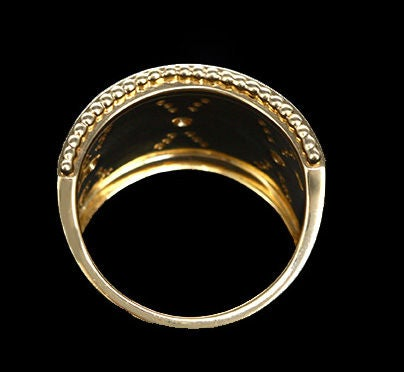 Stunning Yellow Gold and Diamond Classic Band Ring 2