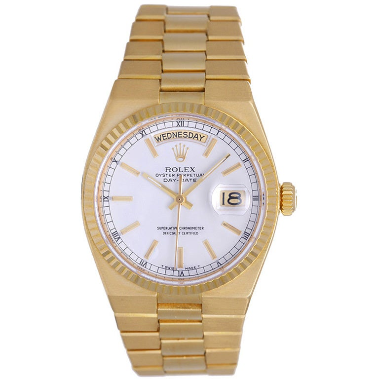 ROLEX Oyster Quartz President Day-Date Men's Gold Watch 19018 For Sale