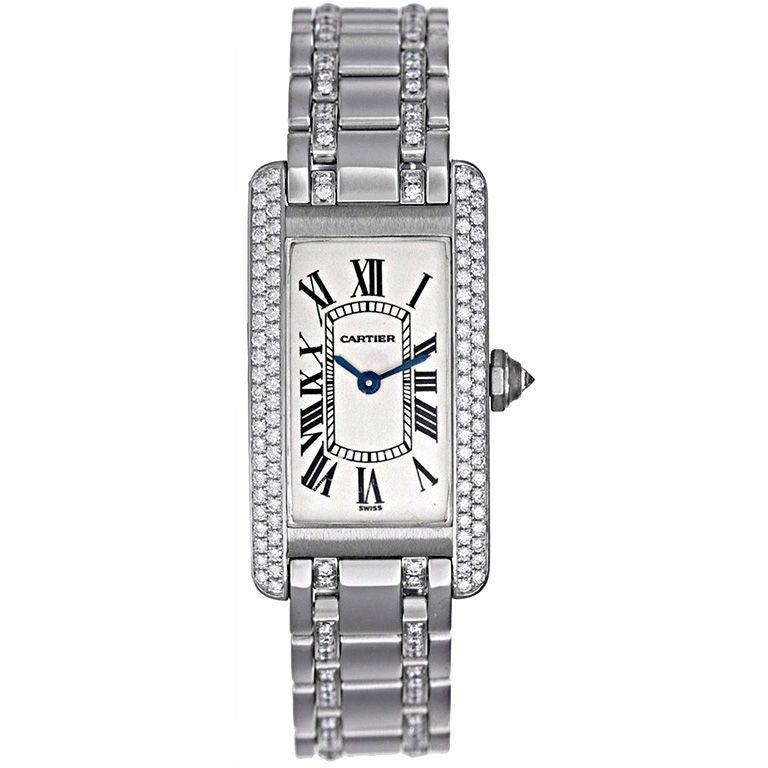 Stunning Cartier Tank Americaine Ladies Diamond Watch ...