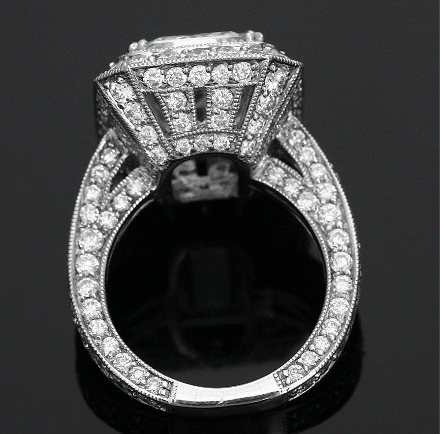 Amazing 7 45 Ct Emerald Cut Gia Diamond White Gold