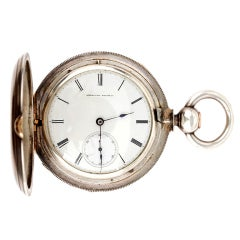WALTHAM Silver Grade Nickel Model 1868 Pocket Watch
