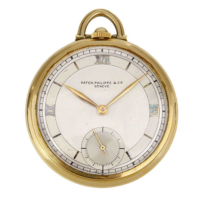patek philippe yellow gold pocket ref 63 at 1stdibs