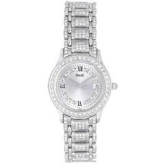 PIAGET Lady's White Gold and Diamond Watch with Diamond Bracelet