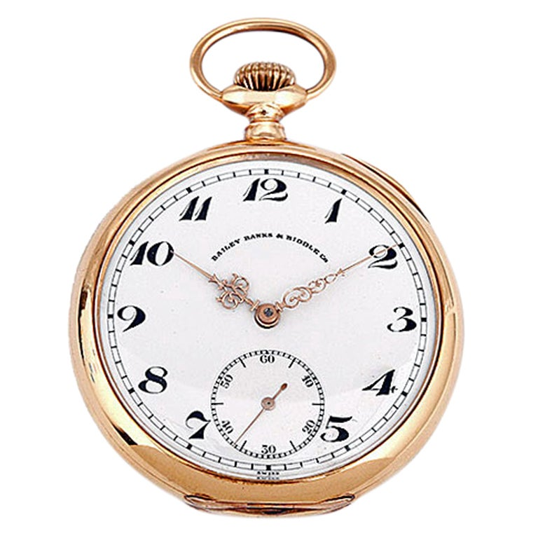 Patek Philippe Pocket Watch Retailed by Bailey, Banks and Biddle For Sale