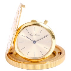 CARTIER Unusual Yellow Gold Coin Watch