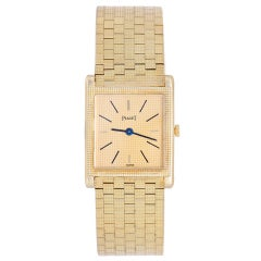 Piaget Yellow Gold Rectangular Dress manual-wind Wristwatch
