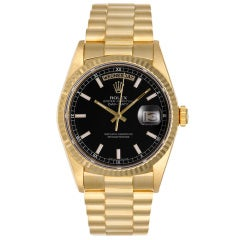 ROLEX Yellow Gold Day-Date President Wristwatch Ref 18238