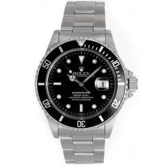Rolex Stainless Steel Submariner Diver's Wristwatch Ref 16610 circa 1990s
