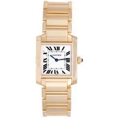 Cartier Yellow Gold Tank Francaise Midsize Wristwatch