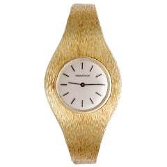 Jaeger-LeCoultre Lady's Yellow Gold Bracelet Watch