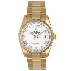 Rolex Yellow Gold Day-Date President Wristwatch Ref 118238