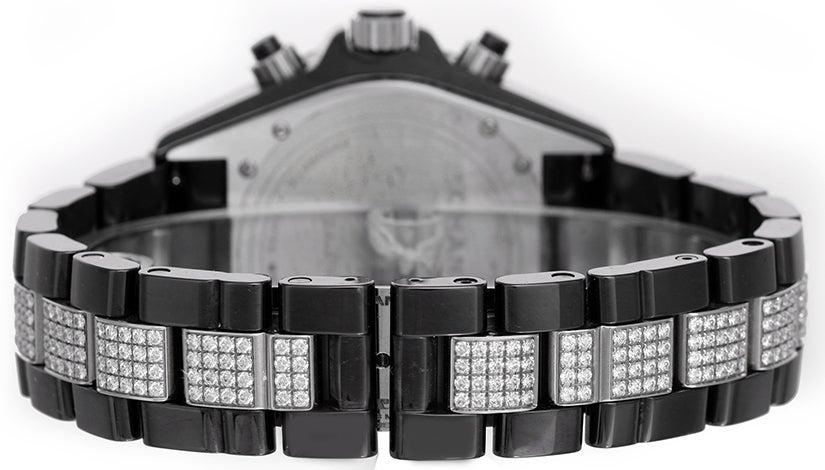 Chanel Black Ceramic and Diamonds J12 Chronograph Wristwatch 2