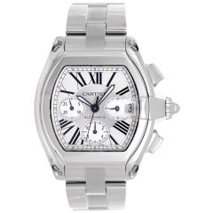 Cartier Stainless Steel Roadster Chronograph Wristwatch
