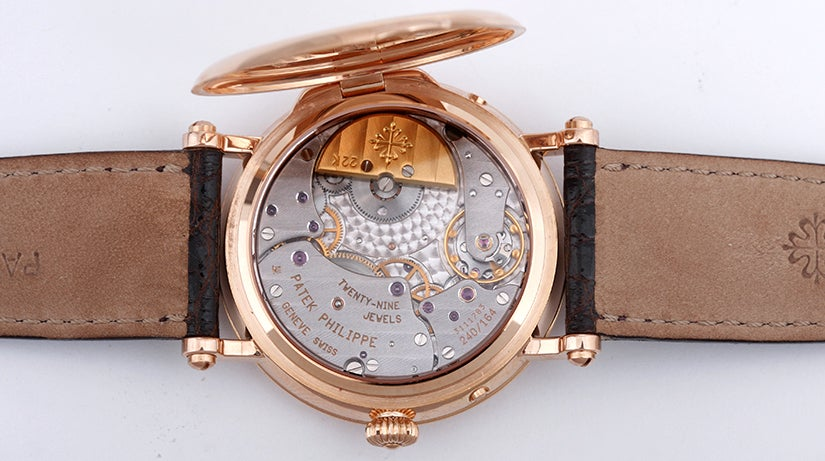 Patek Philippe Rose Gold Moonphase Calendar Wristwatch Ref 5054R image 3