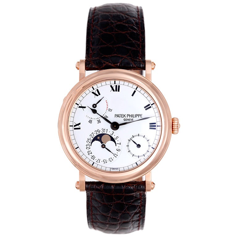 Patek Philippe Rose Gold Moonphase Calendar Wristwatch Ref 5054R 1