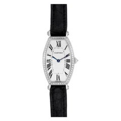 Cartier Lady's White Gold and Diamond Tonneau Wristwatch