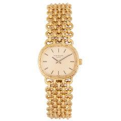 Patek Philippe Lady's Yellow Gold Ellipse Bracelet Watch
