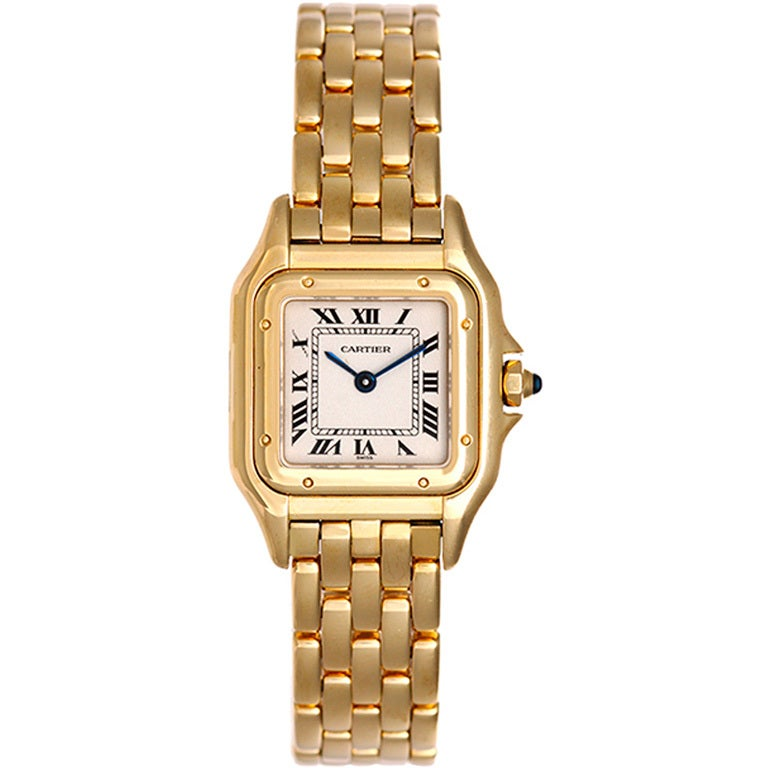 Cartier Lady's Yellow Gold Panther Wrisatwatch