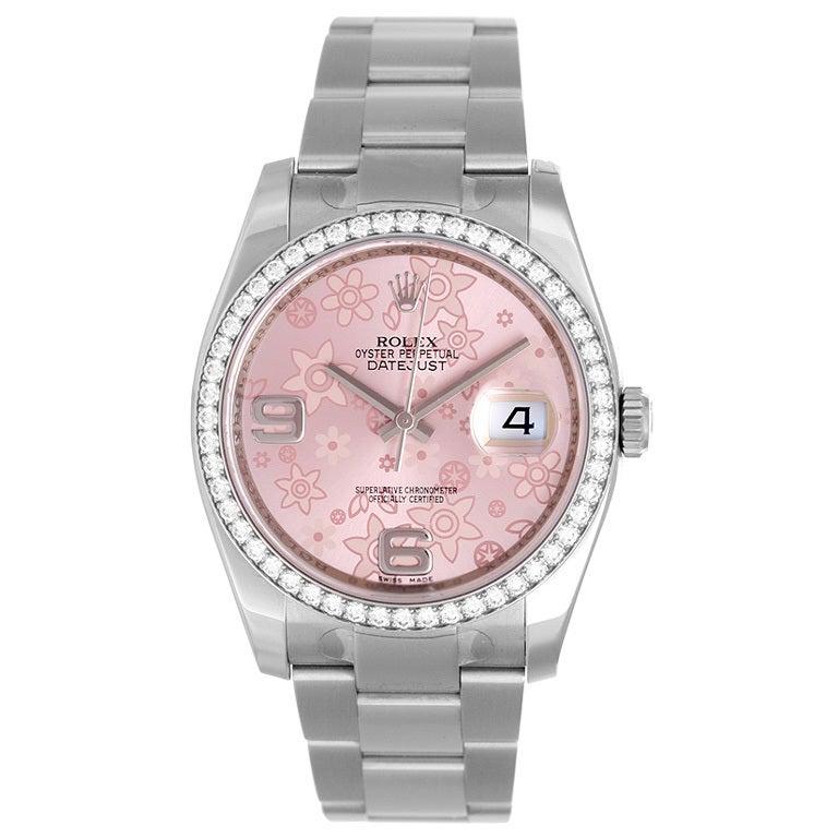 Rolex Lady's Stainless Steel and Diamond Datejust Wristwatch 1
