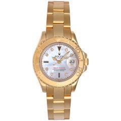 Rolex Lady's Yellow Gold Yacht-Master Wristwatch